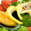 Dish with seafood — Stock Photo