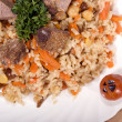 Pilaf with meat — Stock Photo
