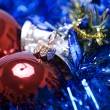 Christmas and New Year decorations — Stock Photo