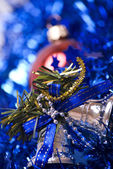 Christmas and New Year decorations — Stockfoto