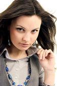 портрет молодой девушки — Стоковое фото