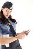 Policeman close-up — Stock Photo