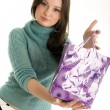 Young girl with shopping bag — Stock Photo #4398685