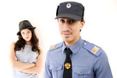 Policeman and criminal — Stock Photo