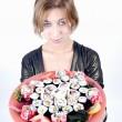dziewczyna z sushi — Zdjęcie stockowe