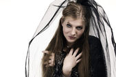 Black bride portrait — Stock Photo