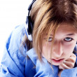 Stock Photo: Young girl in headphones