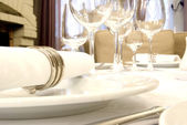 Dining table close-up — Stock Photo