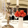 Dining table close-up - Stock Photo