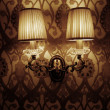 Photo of wall lamp with dim light - Stock fotografie