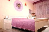 Pink bedroom — Stock Photo