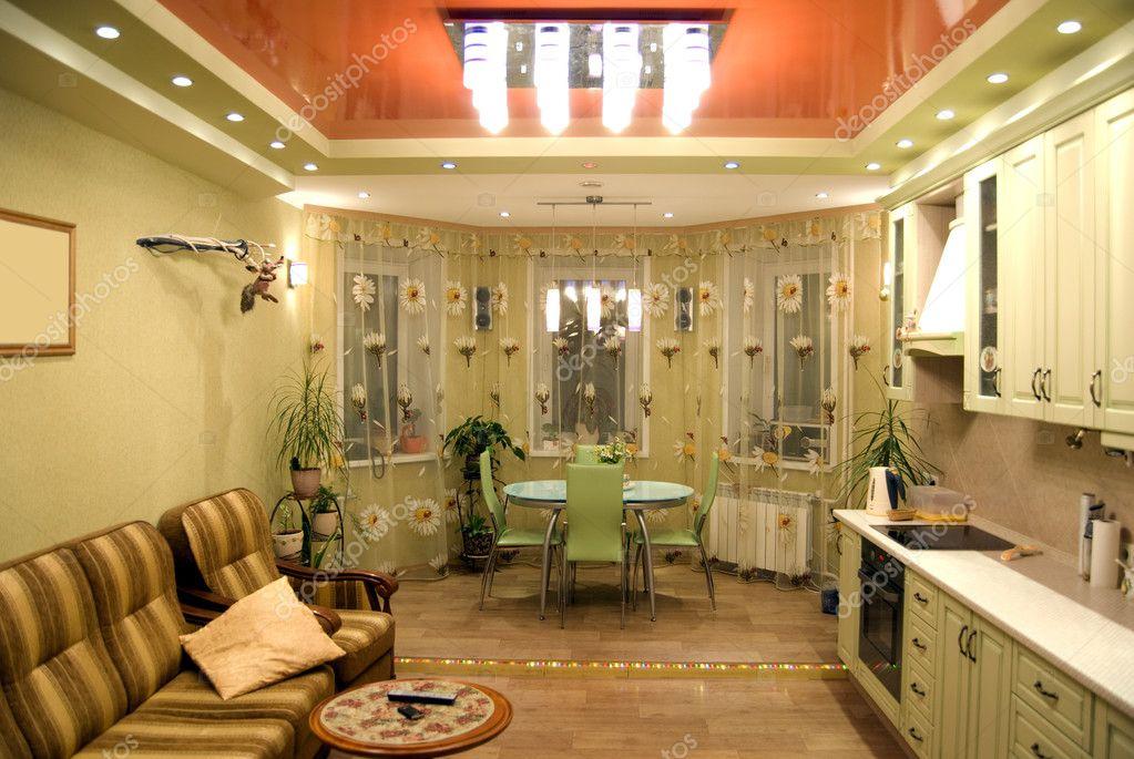Дизайн кухни-столовой с эркером