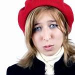 młoda dziewczyna w francuski styl — Zdjęcie stockowe