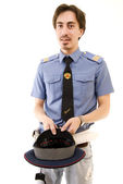 Poor policeman — Stock Photo