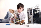 Computer repair — Stock Photo