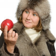 Stock Photo: Apple and winter