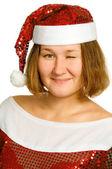Christmas wink — Stock Photo