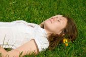 Resting woman — Stock Photo