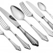 Old Silverware Set (Clipping Path) — Stock Photo