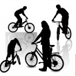 Royalty-Free Stock Vector Image: Cyclists
