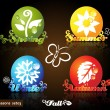 Seasons icons — Stock Vector #3845137