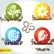 Royalty-Free Stock Vector Image: Seasons set02