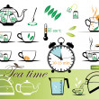 Royalty-Free Stock Vector Image: Tea time