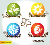 Seasons set02 — Vector de stock