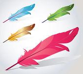ベクトルの羽 — ストックベクタ