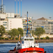 Tug boat in port — Stock Photo