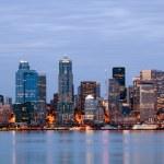Seattle Washington skyling at twilight — Stock Photo #3885806