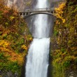 Waterfall - multnomah falls in Oregon - Stock Photo
