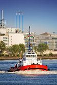Tug boat in port — Stock Photo