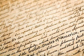 "Declaration of independe, horizontal background, macro with shallow dof and focus on ""united states of america"" — Stock Photo"