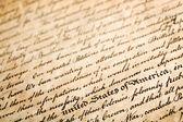 """Deklaracja independe, poziomy tła, makro z płytkich dof i skupić się na """"stany zjednoczone"""" — Zdjęcie stockowe"""
