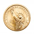 Dollar coin isolated — Stock Photo
