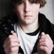 Stock Photo: Handcuffed teen portrait