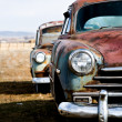 Vintage cars vertical version - Stock Photo