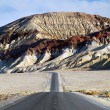 Desert mountain road - death valley CA - Stock Photo