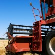 Combine on field - Stock Photo
