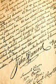 John Hancock on declaration of independence — Foto de Stock