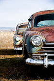 Vintage cars vertical version — Stock Photo