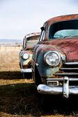 Vintage cars vertical version — Stock Photo