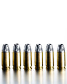 Bullets 9mm high contrast — Stock Photo