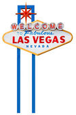 Las vegas sign isolated on white — Stock Photo