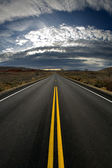 Lost highway - vertical version — Foto de Stock