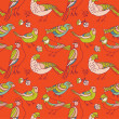 Birds seamless pattern - Stock Vector