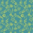 Sea shells seamless pattern — Vettoriali Stock