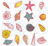Set of vector shells — Stock Vector