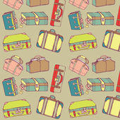 Suitcases pattern — Stock Vector